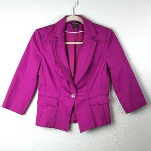 WHBM Fuschia 3/4 Sleeve Jacket 4 EUC